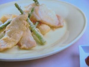 白身魚のベーニェ