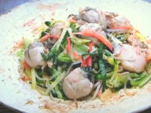 もこみち流 カキと野菜の和風バターしょうゆ炒め