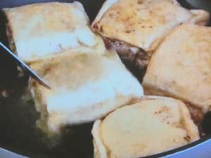 もこみち流 ひき肉詰め油揚げの焼き物