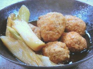 鶏つくねのしょうが煮