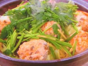 ボリューム鶏団子鍋