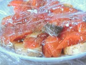 鮭と長芋のレンジ蒸し