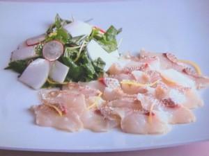 鯛と蕪のサラダ仕立て