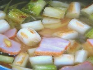 ねぎとベーコンの中国風スープ煮