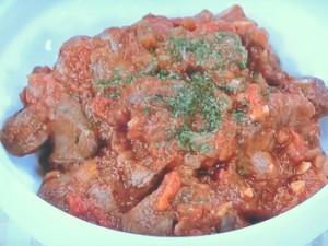 鶏レバーのトマト煮