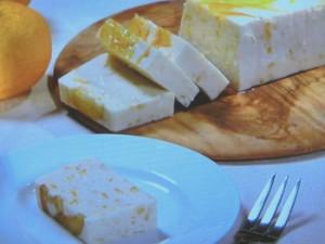 柚子はちみつのレアチーズケーキ