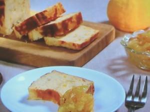 柚子はちみつのベイクドチーズケーキ