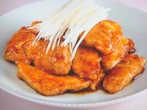 鶏の甘酢炒め