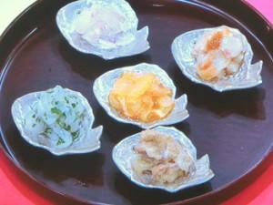 真鯛の刺身5種