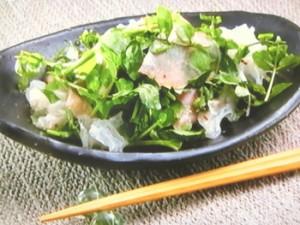 クレソンXハチミツサラダ(クレソンとハチミツの美肌サラダ)