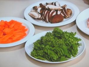 鶏むね棒と春野菜の塩炒め