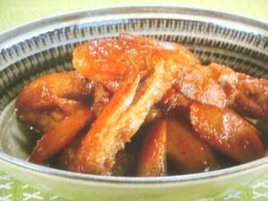新ごぼうと手羽中の甘酢炒め煮