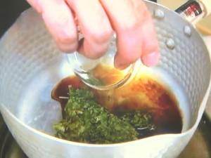 新茶の佃煮のお茶漬け