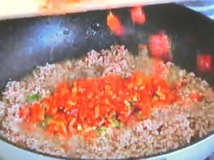 もこみち流 中華風ひき肉とピーマンのフジッリ