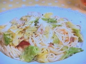 キャベツとアンチョビーのスパゲティ