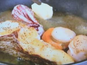 もこみち流 魚介のソテー〜ライムチリソース
