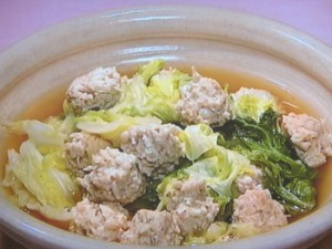 えのき鶏つくねの柚子こしょう煮