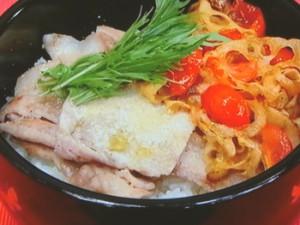 イタリアンキンピラ豚丼