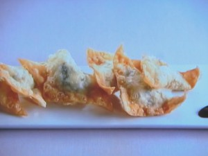 豆腐と海老の揚げワンタン
