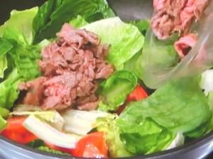 ロメインレタスと牛肉のマヨソテー