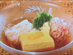 コーン卵豆腐とそうめんの冷やし鉢