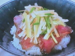 サラダ風・かつおたたき丼