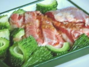 ゴーヤーと豚バラの梅煮