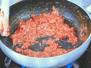 なすとれんこんの肉みそ炒め