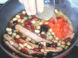 豆とソーセージの煮込み