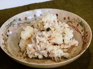 干物とポテトサラダ