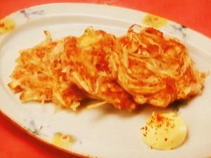 ひき肉とごぼう、長芋のつくね焼き