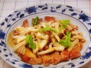 豚肉のソテー和風きのこソース
