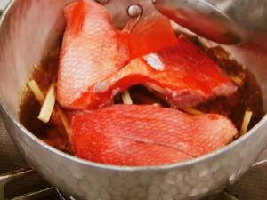 キンメとごぼうの煮つけ