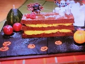 もこみち流 かぼちゃクリームとチョコレートケーキのミルフィーユ