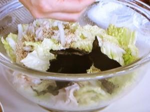 白菜と豚しゃぶののりサラダ