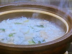 帆立て缶とかぶの雑炊