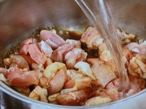 鶏のわかめスープ