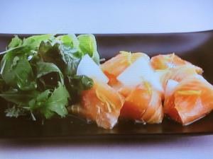 サーモンの柚子風味