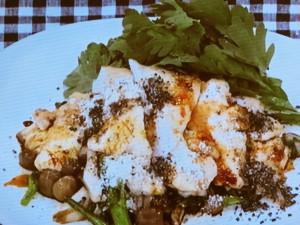鶏むね肉と春菊のサラダプレート