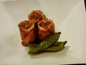 豚ロース肉の八幡巻き