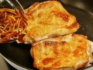 鶏肉の香り焼き白菜サラダ仕立て