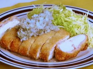 豆腐の焼きカツ磯辺おろしソース