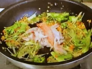 もこみち流 カニと彩り野菜のチャーハン