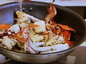 もこみち流 カニとタコとアサリのチリトマトソースパスタ