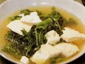 菜の花と豆腐の煮物