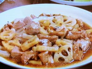 豚肉とれんこんの豆チ蒸し