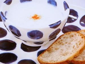 里芋の白みそスープ