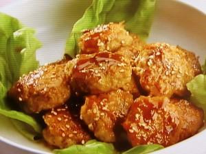 鶏つくねの照り焼き