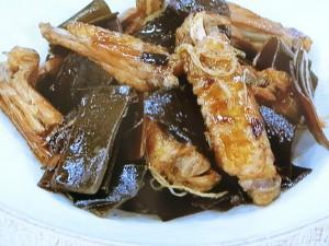 鶏と昆布のポン酢煮