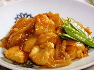 鶏むね肉と新たまねぎの照り煮